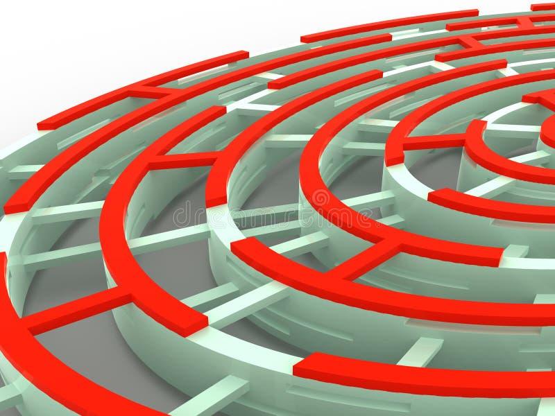 labyrint stock illustrationer