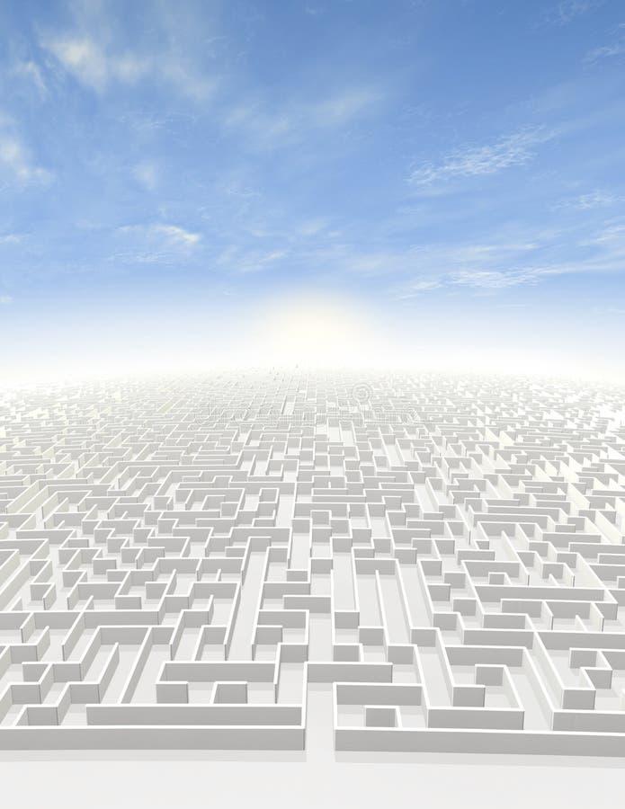 Labyrint aan Oneindigheid royalty-vrije illustratie