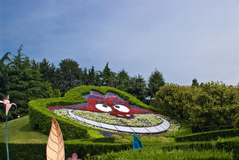 Labyrint av Alice i underland royaltyfria bilder