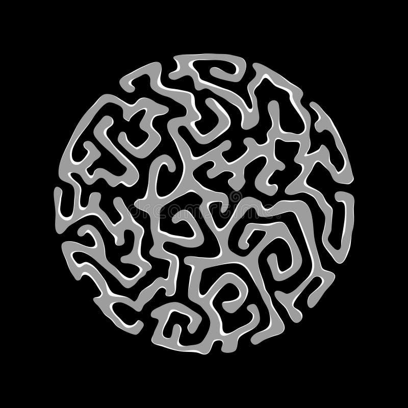 Labyrint av meningen stock illustrationer