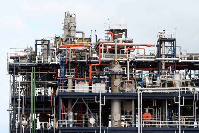 Labyrint av pipelines royaltyfria bilder