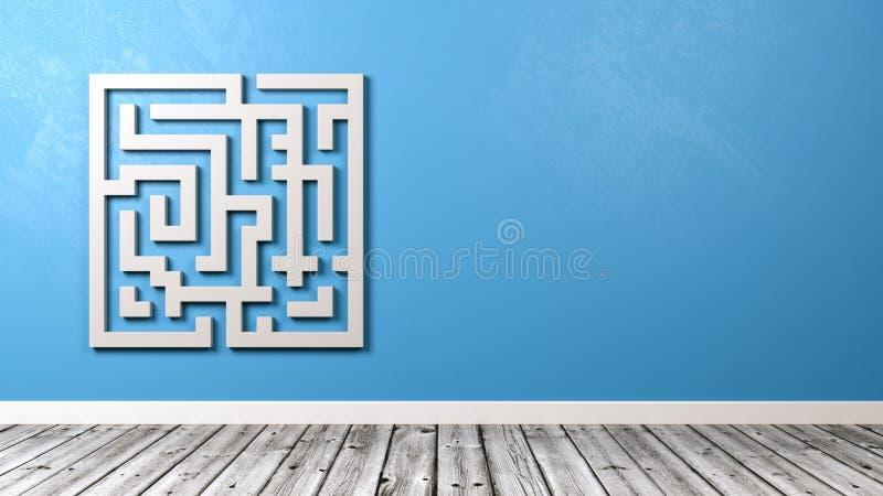 Labyrint i rummet med kopieringsutrymme royaltyfri illustrationer