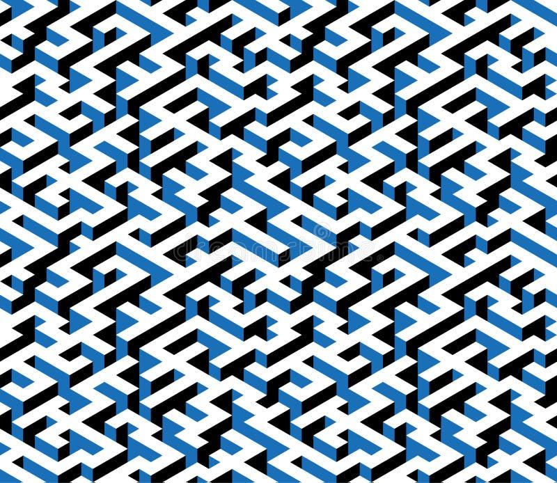 Labyrint labyrint - isometrisk ändlös modell vektor vektor illustrationer