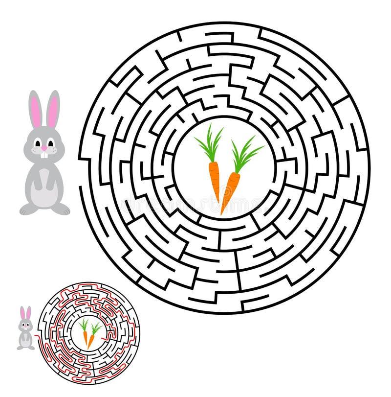 Labyrint, labyrintraadsel voor jonge geitjes Ingang en Uitgang Kinderen puz stock illustratie