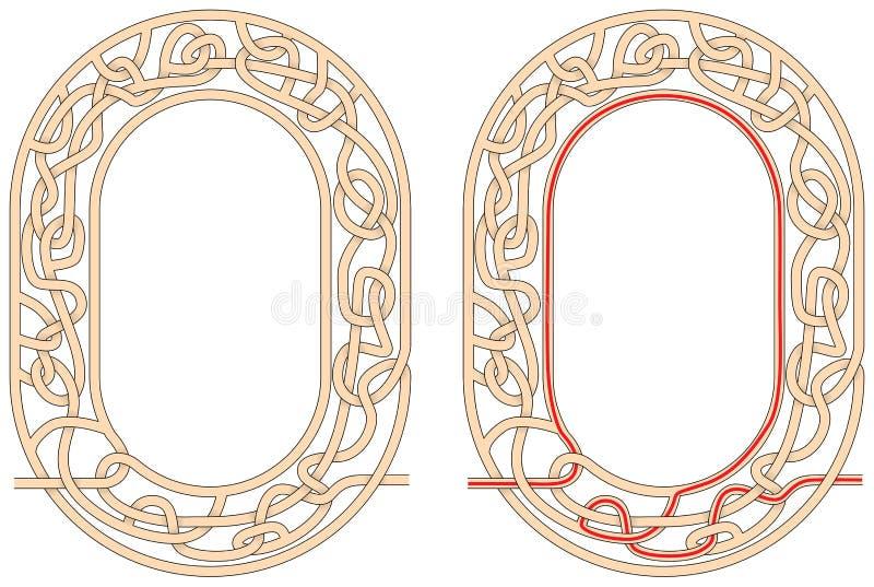 Labyrint nul stock illustratie