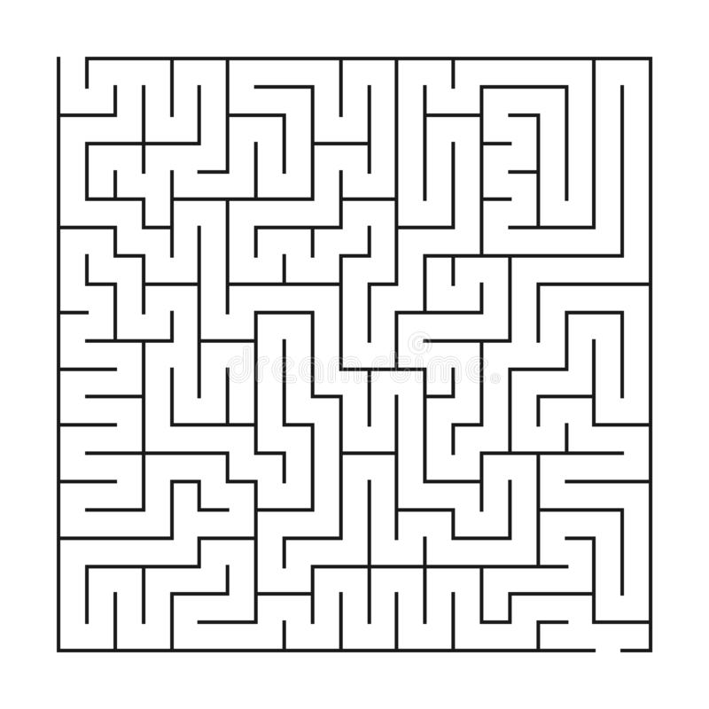 Labyrint/labyrint op witte achtergrond stock illustratie