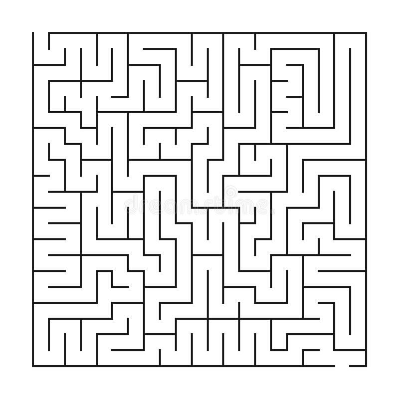Labyrint/labyrint p? vit bakgrund stock illustrationer