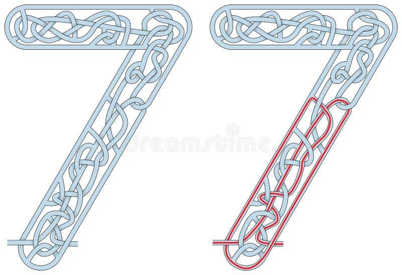 Labyrint sju stock illustrationer