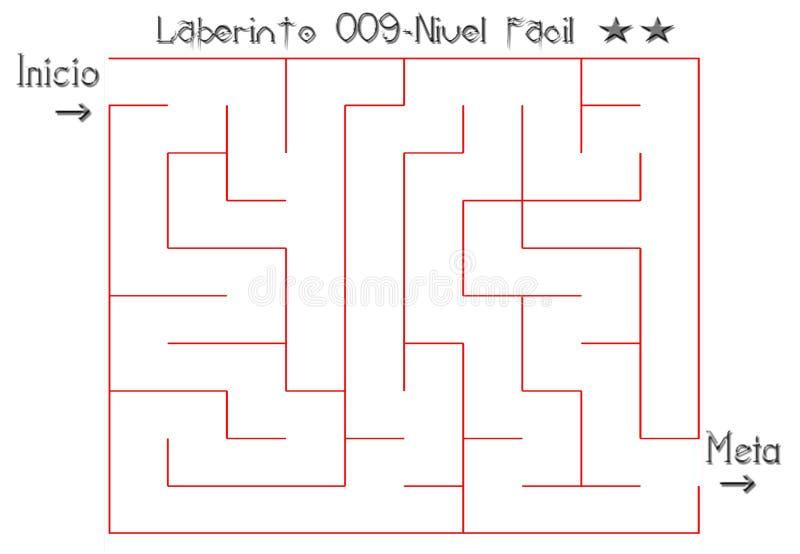 Labyrint som löser lätt royaltyfri bild