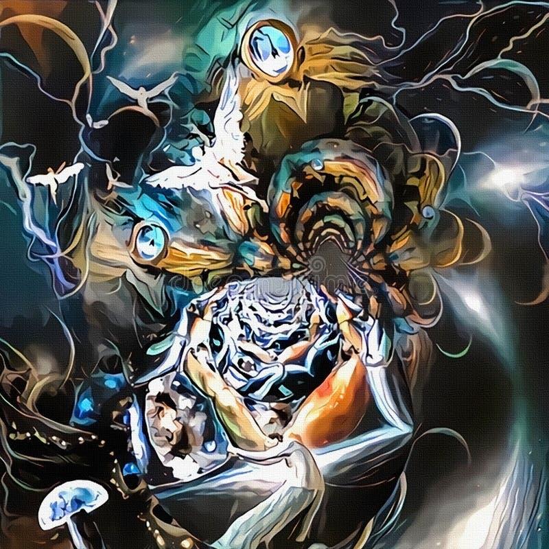 Labyrint van bewustzijn stock illustratie