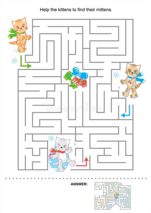 Labyrint voor jonge geitjes vector illustratie