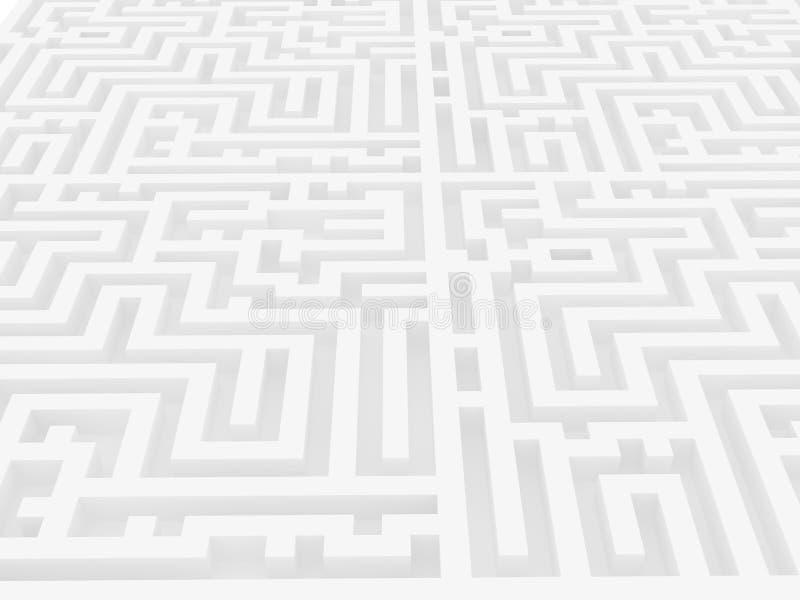 Labyrinth über weißem Hintergrund vektor abbildung