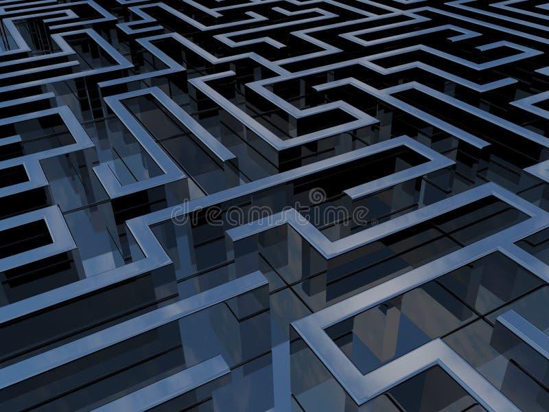 Download Labyrinth stock illustration. Illustration of constraint - 14047470