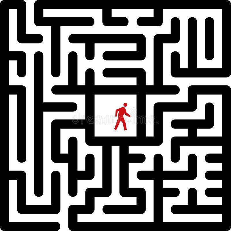 Labyrinth royalty free illustration