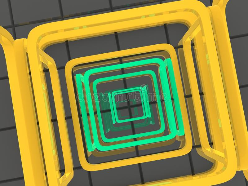 Labyrinth. Very beautiful image. Labyrinth. 3d vector illustration