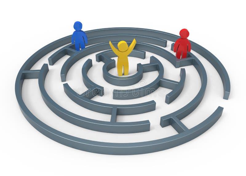 Labyrinth stock abbildung