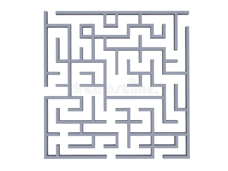 Download Labyrinth stock illustration. Image of complex, idea, illustration - 7753127