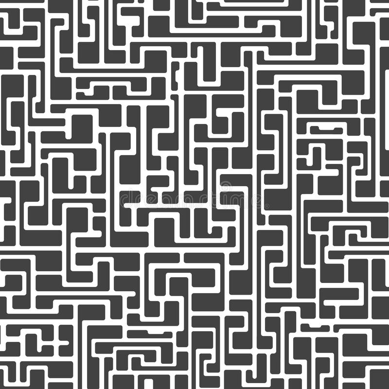 Labyrinth abstract seamless royalty free illustration