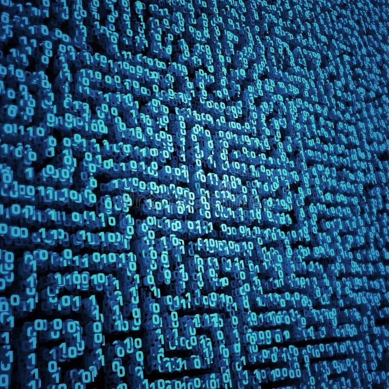 Labyrinth der binären Daten stock abbildung