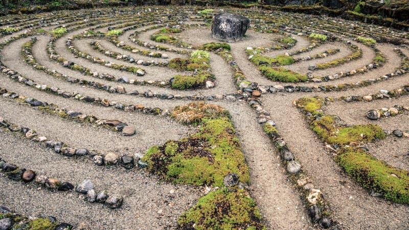 Labyrinth des Steins stockbild