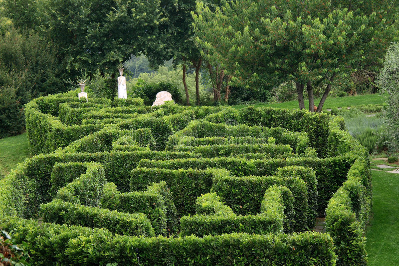 Labyrinth garden stock images