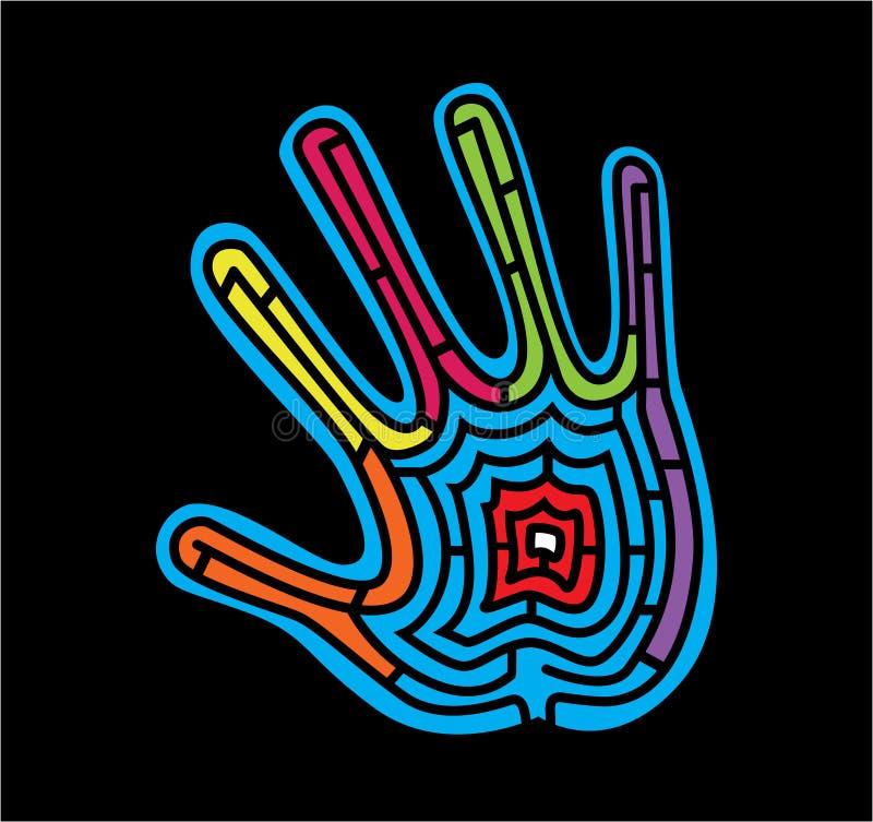 Labyrinth_in_a_hand ilustración del vector