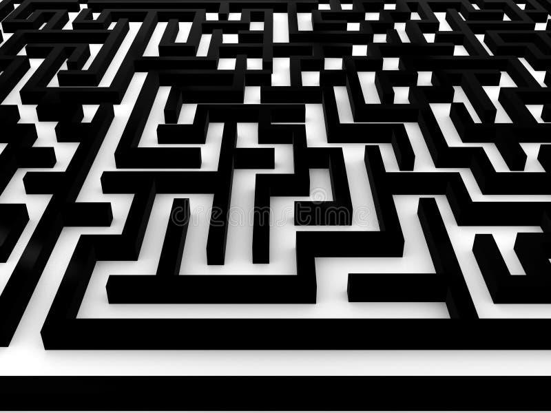 Labyrinth ? Labyrinth auf weißem Hintergrund. 3D vektor abbildung