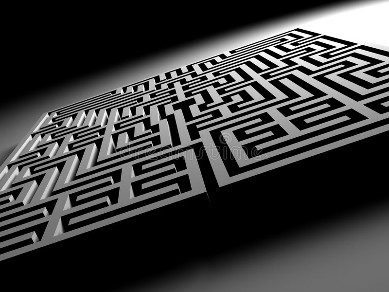 Download Labyrinth Maze stock illustration. Illustration of complex - 5055120