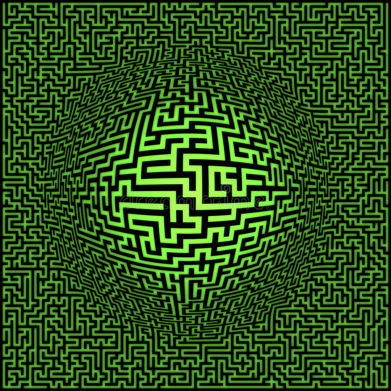 Download Labyrinth maze background stock illustration. Image of concepts - 10880773