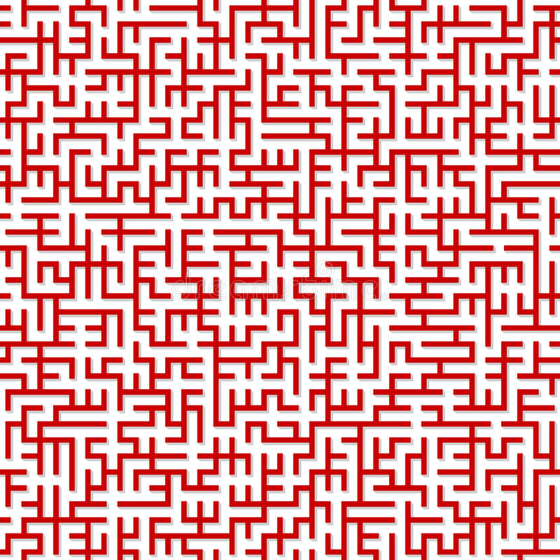 Labyrinth. Nahtloses Muster. stock abbildung