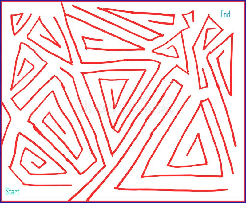 Labyrinth Nr. vier, sehr einfach, Vektorgraphik lizenzfreie abbildung