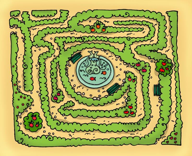 Labyrinth park vector illustration