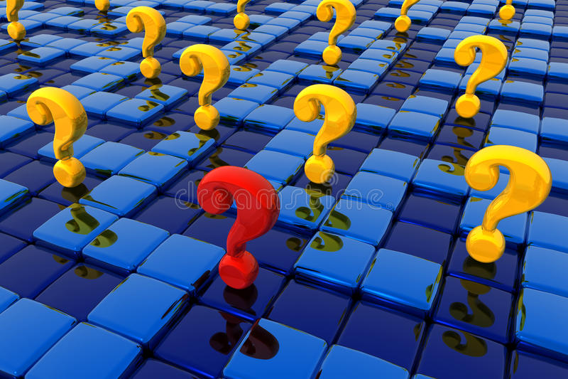 Labyrinth of questions stock illustration