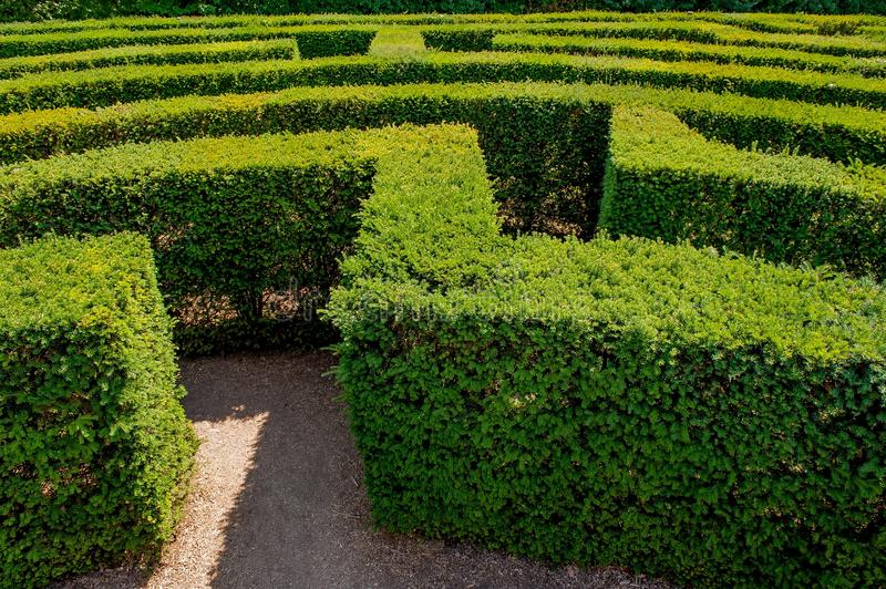 Labyrinth in sigurta stock images
