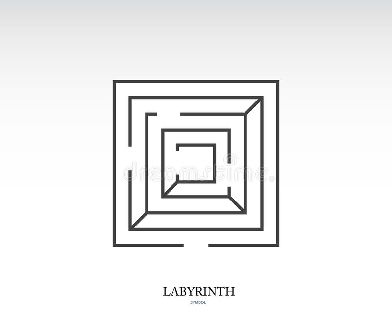 Labyrinth symbol. Sign vector icon illustration on white background royalty free illustration