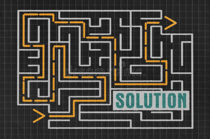 Labyrinth und Wort Lösung vektor abbildung