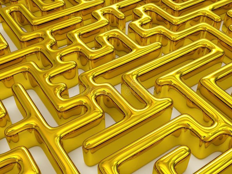 Labyrinth. Very beautiful image. Labyrinth. 3d stock illustration