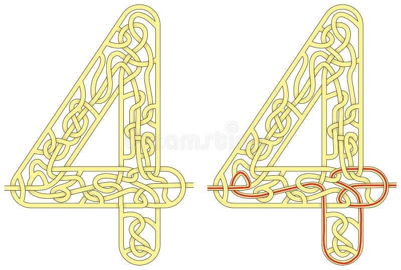 Labyrinth vier vektor abbildung