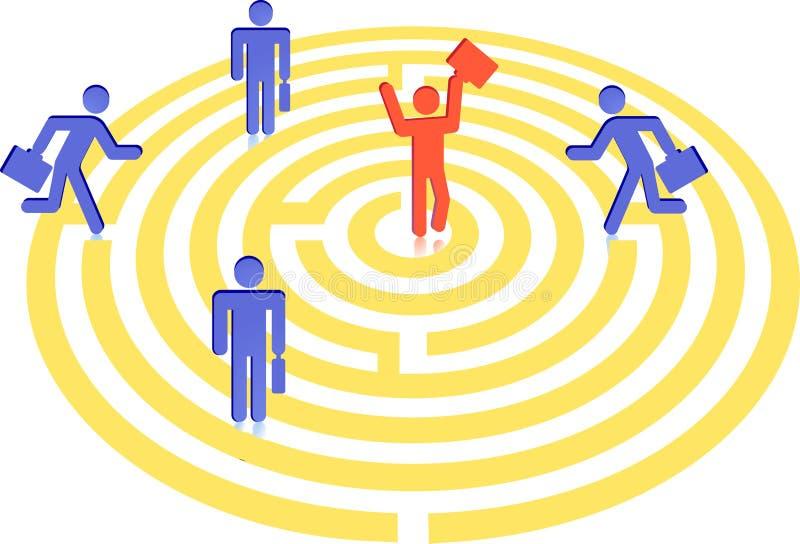 Labyrinth zum Suchen vektor abbildung