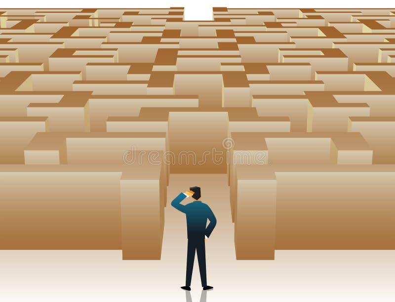Labyrinthdurcheinander stock abbildung