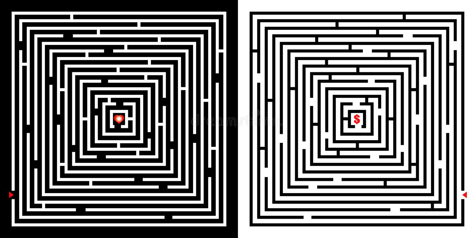 Labyrinthe illustration de vecteur