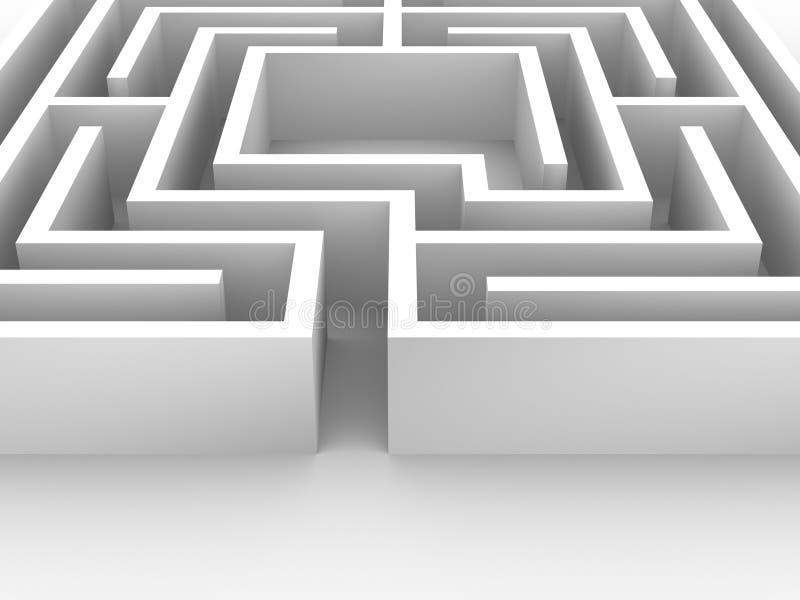 Labyrinthe illustration stock