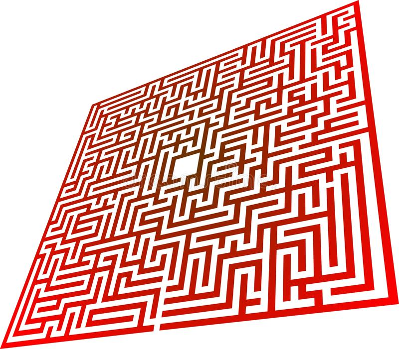Labyrinthe illustration stock