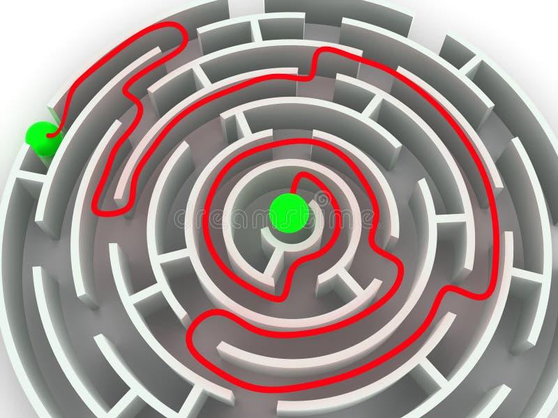 Labyrinthe. illustration de vecteur