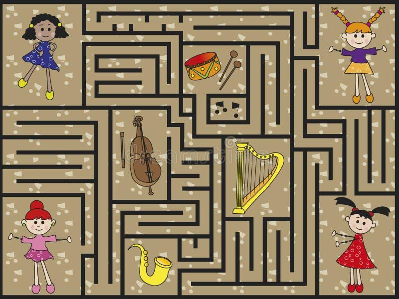 Labyrinthe illustration libre de droits