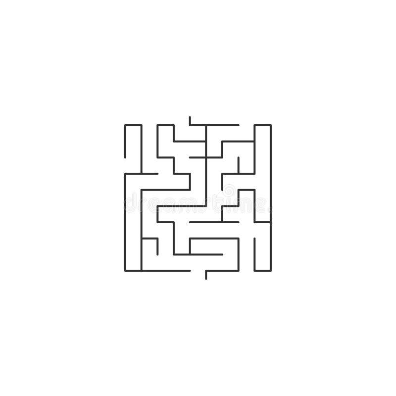 Labyrinthe abstrait Labyrinthes dans la forme de la place Conception moderne de modèle de mystère pour des affaires, décoration,  illustration stock