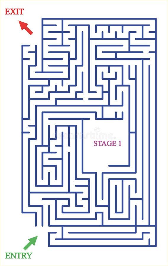 Labyrinthe avec deux entrées et une étape photos libres de droits