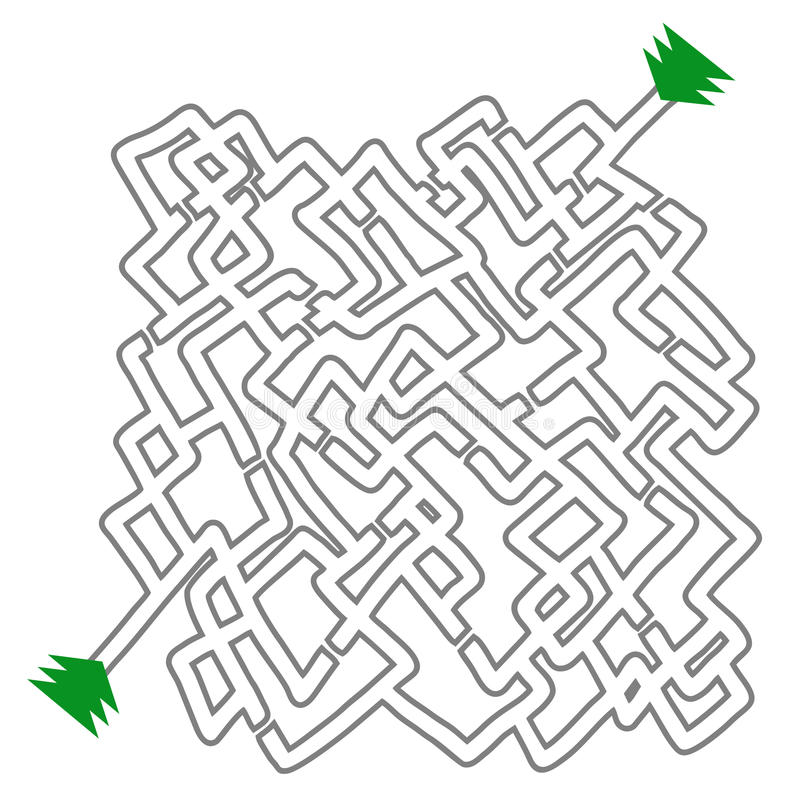 Labyrinthe blanc illustration stock