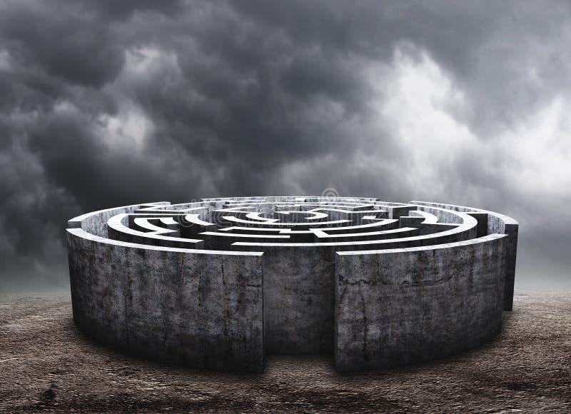 Labyrinthe circulaire illustration de vecteur