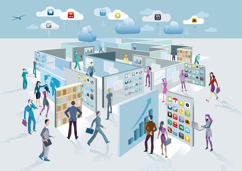 Labyrinthe d'écrans illustration libre de droits
